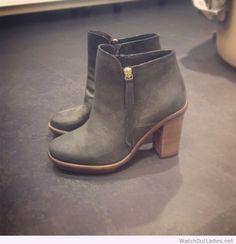 Amazing grey booties