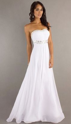 Prom Dresses. Lovin the white dresses