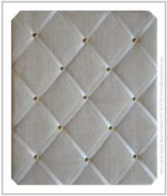 Ivory Linen with Gold Trim Fabric Memo Board £24.99 Message Board www.NoticeBoardStore.com