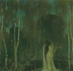 Nymph by a Lake - Edward Steichen