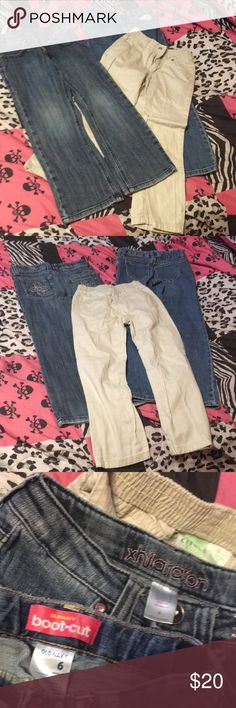 3 pairs Size 6 Girls Jeans - Excellent Condition! 3 pairs of Size 6 Girls Jeans - Excellent Condition! Circo Khaki Jeans Xhilaration Embellished Jeans Old Navy Bootcut Jeans Old Navy Bottoms Jeans
