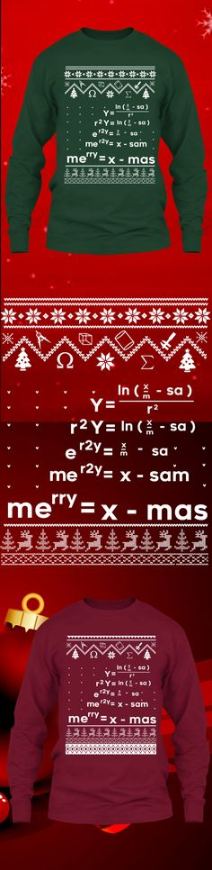 Math Christmas Sweater - Get this limited edition ugly Christmas Sweater just in time for the holidays! Only 2 days left for FREE SHIPPING, click to buy now!