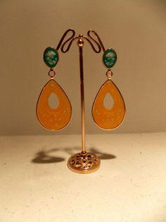 jade earrings with cameo