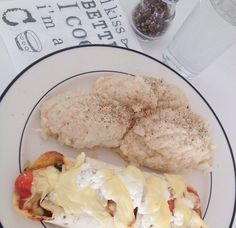 Bloemkool, wrap #kip #huttekase #skinnycheese #tomaat #chicken #chili