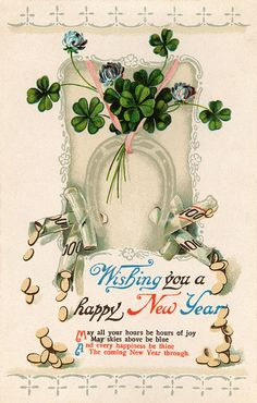 vintage - New year card