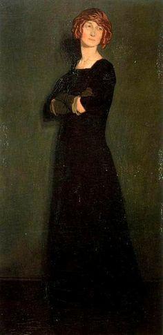 Ignacio Zuloaga (1870-1945) Portrait of Señora Malinowska, la Rusa