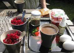 Breakfast in one our summer trips