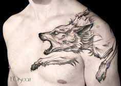 Sketch wolf tattoo design by loiseautattoo