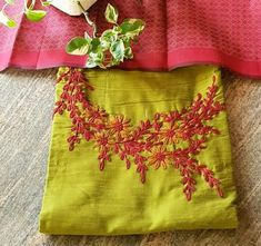 22 trendy embroidery patches for kurtis Embroidery On Kurtis, Kurti Embroidery Design, Embroidery Hoop Crafts, Embroidery Hearts, Hand Embroidery Videos, Hand Embroidery Flowers, Embroidery On Clothes, Embroidery Works, Embroidery Suits
