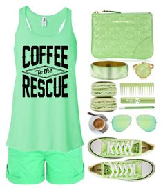 """""""... Coffee...."""" by simona-altobelli ❤ liked on Polyvore featuring George, Converse, Comme des Garçons, Alexis Bittar, Bling Jewelry, Per-fékt Beauty, Urban Decay, Ray-Ban, StreetStyle and monochrome"""