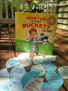 "How Full Is Your Bucket? *for kids* Here are a bunch of ideas to illustrate the ""filling"" of buckets."