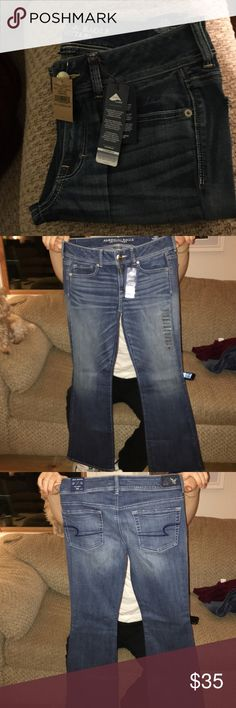 AE KICK BOOT JEANS SUPER STRETCH NEVER BEEN WORN!!!! accepting offers ;) American Eagle Outfitters Pants Boot Cut & Flare