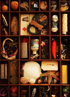 I love this idea...a pretty display box of tiny treasures collected through life :)