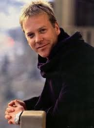 Kiefer William Frederick Dempsey George Rufus Sutherland (b. 21 Dec 1966 London, England) -the son of Donald Sutherland & Shirley Douglas, both of whom are successful Canadian actors. - a British-Canadian actor, producer & director.  Sutherland has a twin sister, Rachel Sutherland, who is a TV post-production supervisor in Toronto.