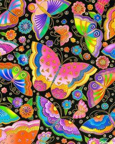 Flying Colors II - Cloud Of Jeweled Wings - Laurel Burch