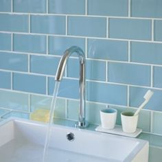 Glacier - Bathrooms - Shop by suitability - Wall & Floor Tiles   Fired Earth