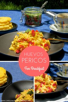 Low-Carb Breakfast Recipe for scrambled eggs Colombian style with tomato and salad onions. Huevos Pericos Recipe. Colombian Scrambled Eggs.