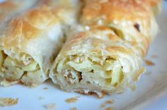 Potato burek. These are like savory baklavas made with moist phyllo pastry. Had it in Serbia, incredibly satisfying.
