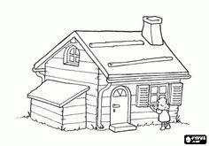 Colorear Ricitos de Oro, una niña muy curiosa encuentra una pequeña casa en el bosque