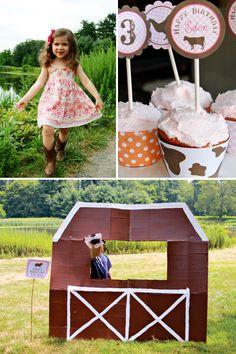 barn boy birthday mud cups | HWTM > Kids Birthday > Parties for Girls > Girly Pink Gingham Farm ...