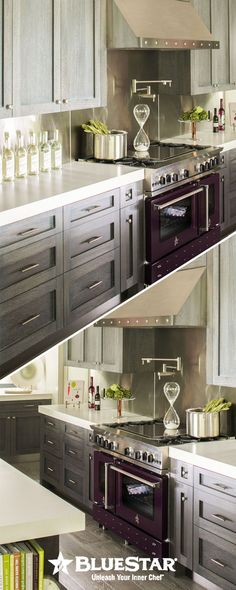 The HOTTEST kitchen designs in the USA at the moment and they're all choosing Bluestar for performance and style. Click for the ultimate kitchen inspiration! #interiordesign #kitchen #kitchendesign #kitchenideas #kitchenappliances