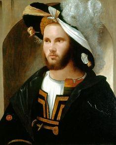 Girolamo Romanino. Portrait of a Man (in a splendid hat), c. 1515-17. #renaissance
