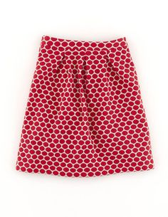 My current favorite skirt - shaped waistline, A-line shape, pockets, not too short. Jersey Jacquard Skirt WG572 Mini at Boden