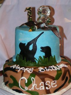 Change the duck to a deer and change the camo to real tree camo and boom that's the perfect idea for my 15th birthday cake :)