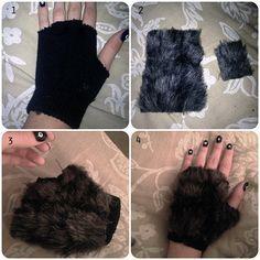 DIY werewolf hands                                                                                                                                                                                 More