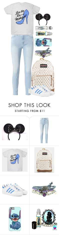 """""""Daydream in Disney"""" by notamundane ❤ liked on Polyvore featuring Disney, Frame, JanSport, adidas Originals and Ask Alice"""