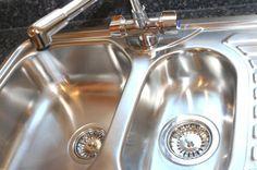 Borax + lemon juice= shiny sink! Via save-money-guide.com