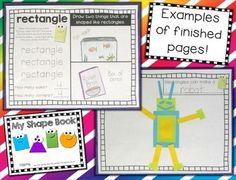 MY SHAPE BOOK --- EXPLORING PLANE SHAPES - TeachersPayTeachers.com