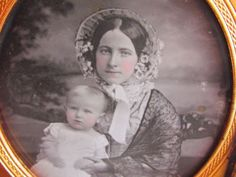 young victorian woman holding child in front of backdrop daguerreotype photo in Collectibles, Photographic Images, Vintage & Antique (Pre-1940), Daguerreotypes | eBay