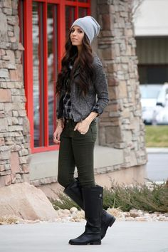 another adorable beanie and great boots