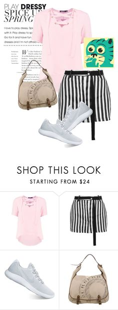 """""""bag"""" by masayuki4499 ❤ liked on Polyvore featuring Boohoo, Ann Demeulemeester, NIKE, Burberry and Jazzberry Blue"""