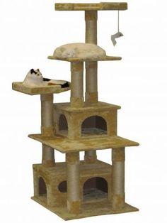 Go cat Club Cat Condo, 67-Inch, Beige >>> Unbelievable cat item right here! : Cat Beds and Furniture