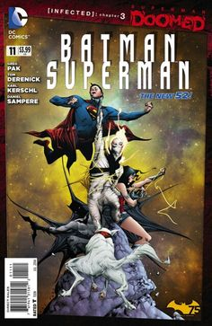 The cover to Batman/Superman #11 (2014), art by Jae Lee & June Chung