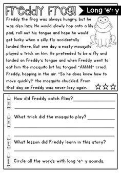 Reading Comprehension Passages and Phonics Activities FREEBIE! Reading Comprehension Passages and Phonics Activities FREEBIE! 2nd Grade Reading Worksheets, First Grade Reading Comprehension, Phonics Reading, Reading Comprehension Worksheets, Reading Passages, Common Core Reading, Phonics Activities, Reading Skills, English Story