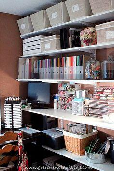 organizing scrapbooking space.