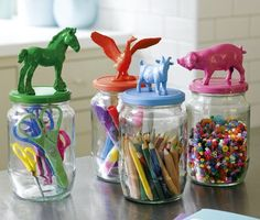 Animal Jars - really nifty storage for bits and pieces!