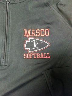 Masco softball left chest logo