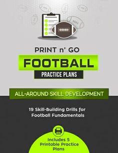 Print n Go Football Practice Plans – All Around Skill Development — Football Tutorials Youth Football Drills, Football Workouts, Dynamic Warm Up, Angle Drill, Beginning Running, Football Conference, School Levels, School Football, Brick Grill