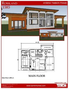 This new plan is a version of our award-winning Gambier plan and was designed because of clients' requests for a smaller version of the Original Gambier. At 1585 square feet this home has a large kitchen and living/dining room, 3 bedrooms, 2 bathrooms and loads of optional outdoor covered deck space. This home is designed with a space for basement stairs that can be turned into a laundry/mechanical space if you choose not to have a basement. Perfect for a family home, getaway or downsizing…