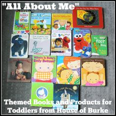 House of Burke: & About Me& Themed Books and Products for Toddlers - All of the books and products we are using for our All About Me unit! All About Me Preschool Theme, All About Me Crafts, All About Me Book, All About Me Activities, Preschool Books, Preschool Lessons, Preschool Learning, Preschool Library, Toddler Themes