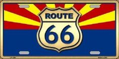 Smart Blonde is the manufacturer and distributor of over novelty License Plate tags, signs, key chains, magnets, and License Plate Tag frames. Route 66 Arizona, Arizona State, Novelty License Plates, Vintage Posters, Flag, High Gloss, Metal, Vehicle, Ribbon