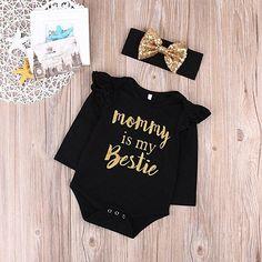 Hole Denim Pant Jean Headband Toddler Kids Clothes Mr.Macy 3PCS Set Baby Off Shoulder Crop Tops