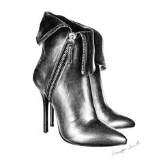 Fashion Pencil Drawing Shoes by T. S. Abe09