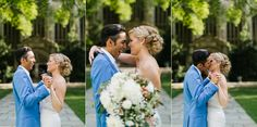 Bride and groom laughing | Oak Pointe Golf and Country Club Wedding by Nicole Haley Photography