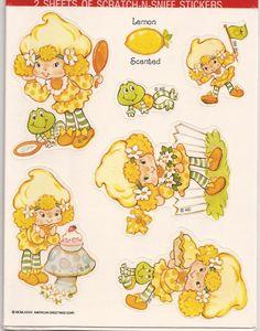 Lemon Meringue And Frappé Stickers Strawberry Shortcake Cartoon, Stickers, Raspberry Tarts, Cartoon Gifs, Cartoon Fun, Dibujos Cute, Rainbow Brite, Vintage Cartoon, Retro Toys