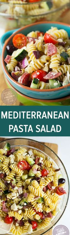Easy Mediterranean Diet Meal Prep Recipes This chilled Mediterranean pasta salad comes together in no time! Perfect for warm days and parties!This chilled Mediterranean pasta salad comes together in no time! Perfect for warm days and parties! Mediterranean Pasta Salads, Mediterranean Diet Recipes, Cocina Natural, Cooking Recipes, Healthy Recipes, Cooking Tips, Summer Salads, Summer Pasta Salad, Pasta Dishes